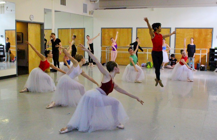 Ballet San Antonio rehearses Balanchine. Photo by Tami Kegley.