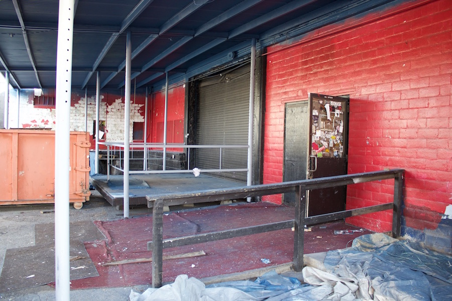 The Paper Tiger courtyard during remodeling on March 12, 2015. Photo by Hunter Bates.