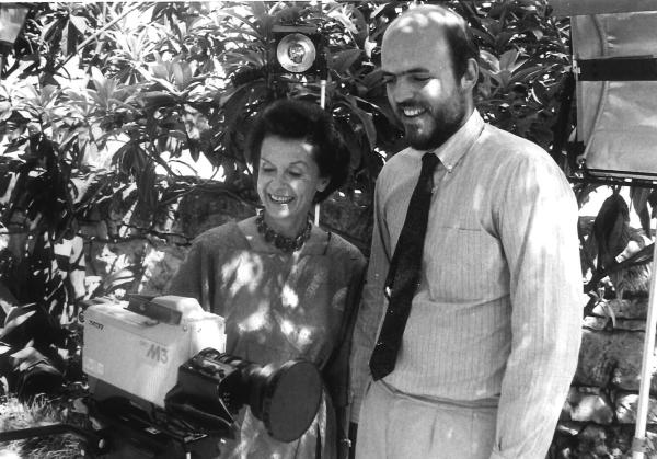 Edith McAllister and Jeffrey Moore, circa 1987. Photo courtesy Southwest School of Art.