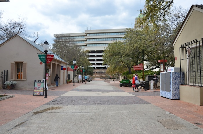 A view looking West towards South Presa Street. Photo by Gretchen Greer.