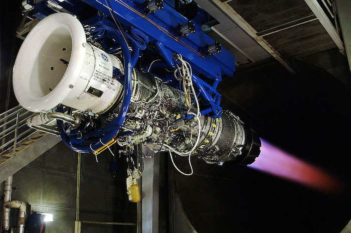 Lockheed Martin's facility at the Port maintains and tests some of the world's largest engines. Photo courtesy of Lockheed Martin.
