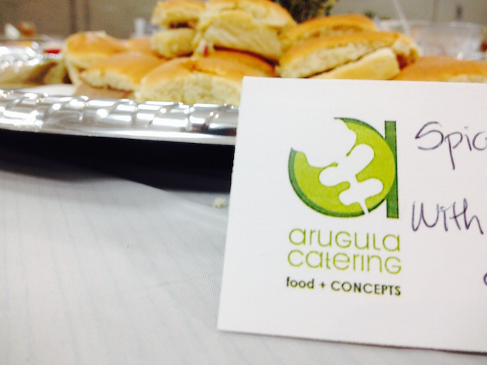 Arugula Catering provided food for the SA Next lecture at the Rand Building. Photo by Mitch Hagney.