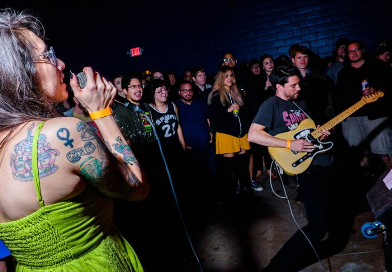 Spokesmodel performs during the Paper Tiger's opening weekend in March 2015. Photo by Scott Ball.