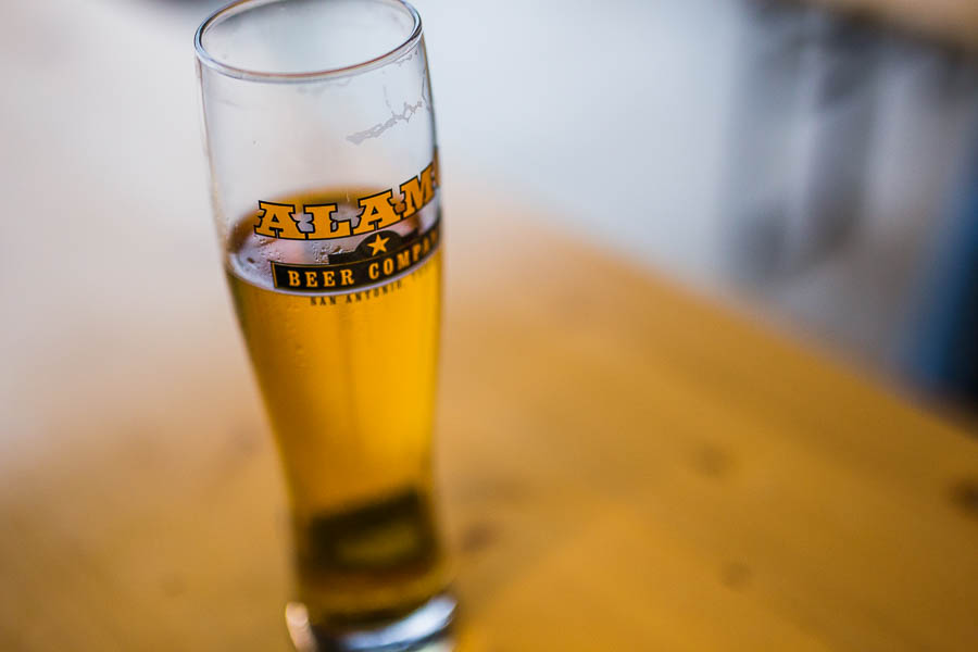 Glasses were half full during the Pints & Politics mayoral forum at the Alamo Beer brewery. Photo by Scott Ball.