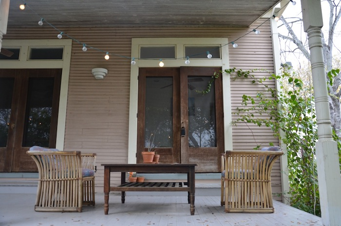 A shared porch at a San Antonio Airbnb. Photo by Gretchen Greer.