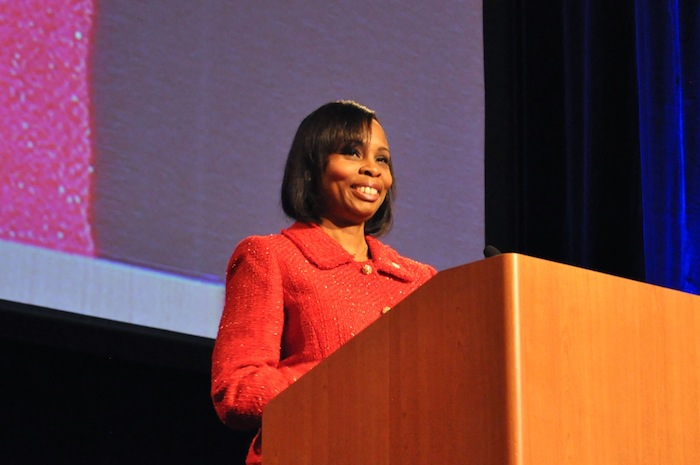 Mayor Ivy Taylor delivers her 2015 State of the City address. Photo by Iris Dimmick.