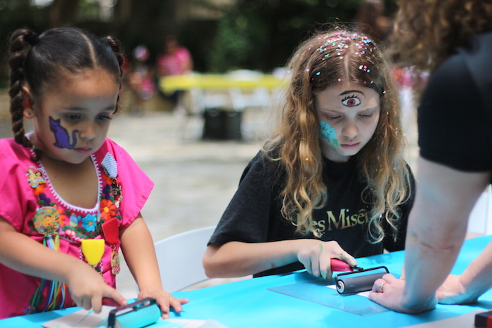 The Fiesta Arts Fair provided a Children's Art Garden which hosted various crafts. Photo by Joan Vinson.