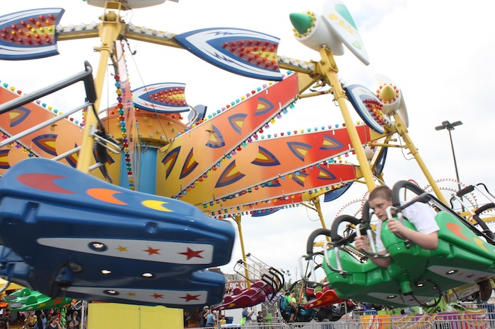 Thrill rides for kids of all ages during the 2015 Fiesta Oyster Bake. Photo by Kay Richter.