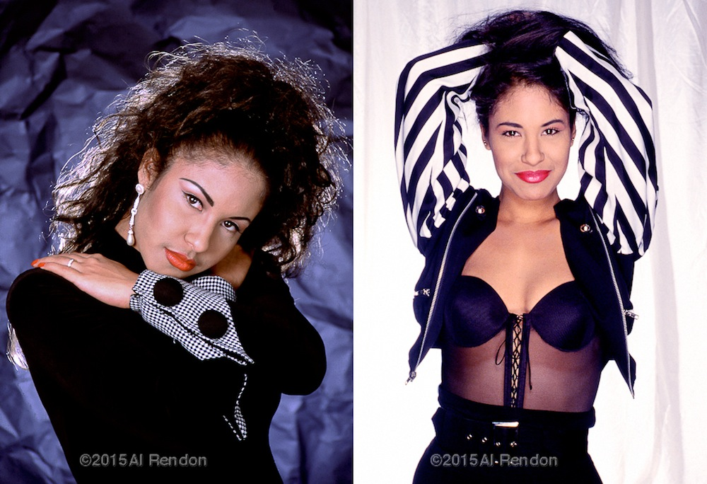 Left: Selena's first photo shoot. Right: Her last photo shoot. Photo by Al Rendon.