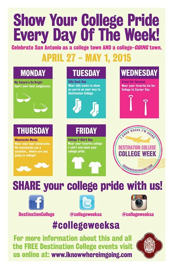 Five ways to show your college pride for College Week.