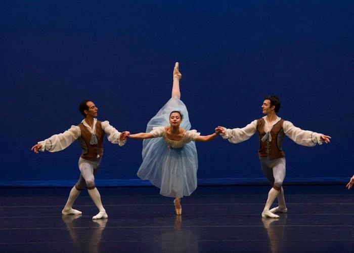 "Jose Gonzalez, Crystal Serrano and Patrick Van Buren in ""Donizetti Variations."" Photo by Alexander Devora."
