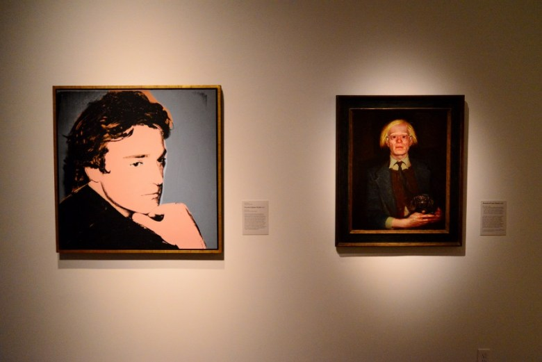 The Warhol–Wyeth portrait exchange, 1976. Photo by Page Graham.