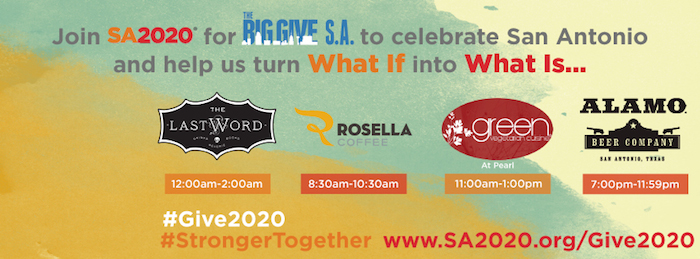 Each of these companies is offering a percent of proceeds to SA2020 during The Big Give S.A.