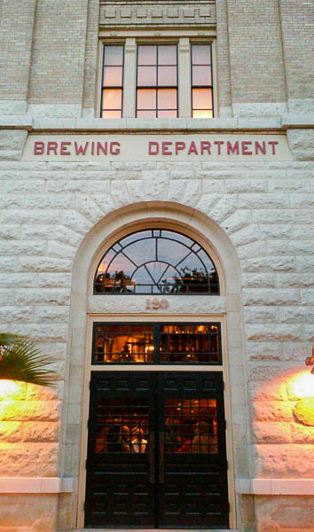 The entrance into Southerleigh Fine Food & Brewing. Photo by Edmond Ortiz.