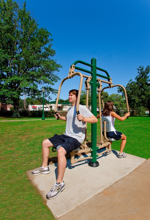A total of five San Antonio Public Library locations - the Johnston, Memorial, Mission, Parman and Tobin branches - are home to outdoor fitness centers. Courtesy photo.