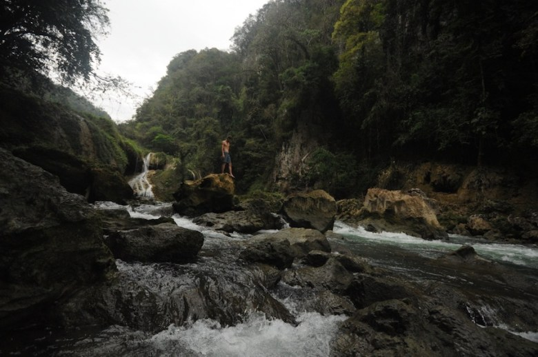 Exploring the river in Semuc Champey, Guatemala. Photo by Everett Redus.