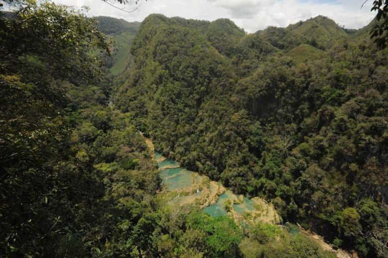 The pools of Semuc Champey, Guatemala. Photo by Everett Redus.