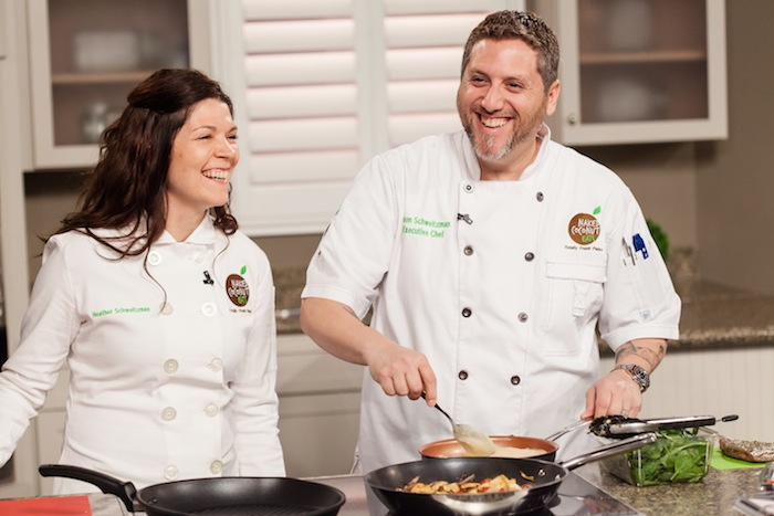 Heather and Jason Schweitzman, wife-and-husband team and owners of Naked Coconut Eats. Courtesy photo.