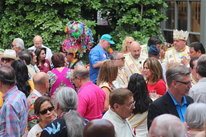 The King's Party was hosted at the Garden Casa Villita on Tuesday. Photo by Joan Vinson.