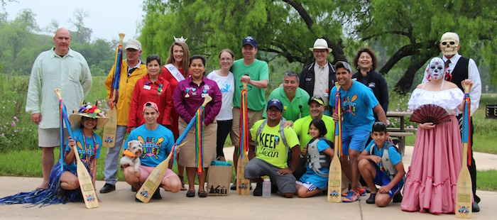 A group picture of the winners at the inaugural Mission Reach Float Fest on Saturday. Courtesy photo.