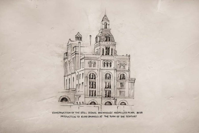 An illustration of the Pearl Brewery. Photo by Scott Martin.
