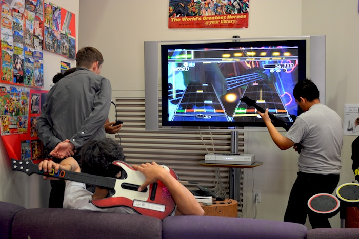 Teens hang out and play games with friends at Central Library. Courtesy photo.