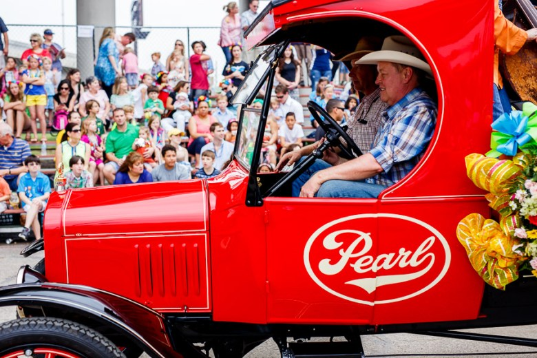 The Pearl truck during the 2015 Battle of Flowers Parade in downtown San Antonio. Photo by Scott Ball.