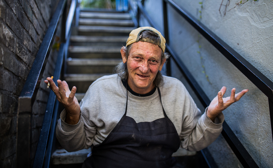 A photograph captured for the project Humans of San Antonio. Photo by Scott Ball.