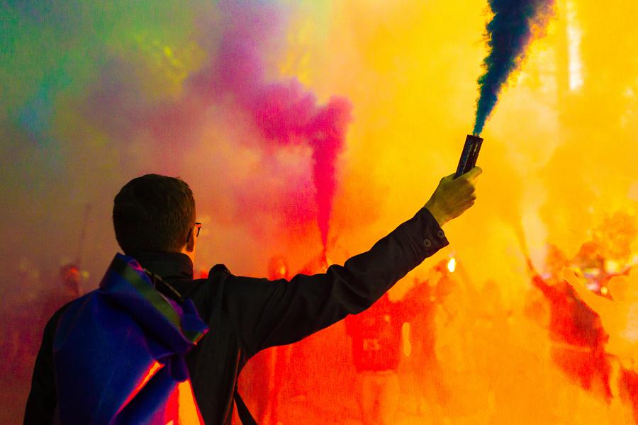 """Smoke Bomb"" was taken in Seattle Washington. Photo by Scott Ball."