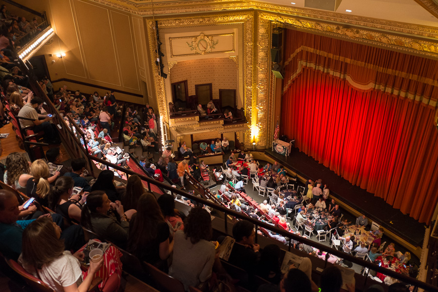 Fans take their seats before the 50th Cornyation at the Charline McCombs Empire Theatre. Photo by Scott Ball.