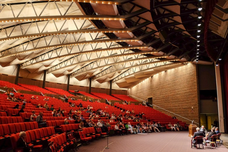Laurie Auditorium during a mayoral forum at Trinity University.  Photo by Scott Ball.