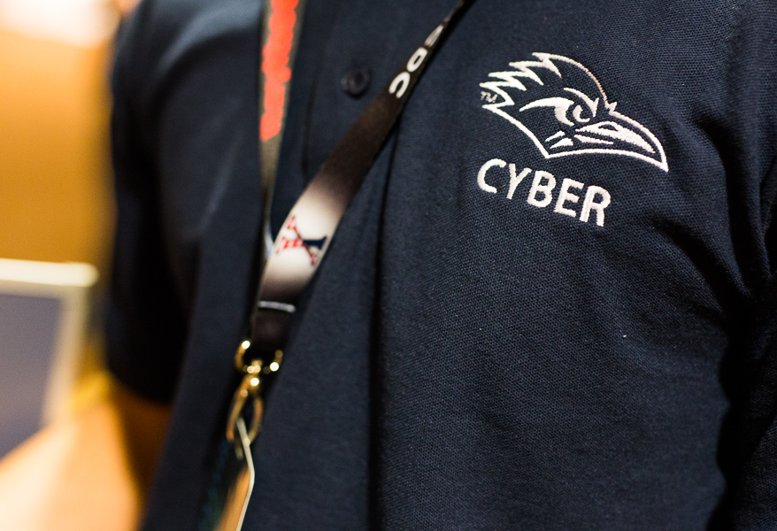 A UTSA uniform during the 2015 National Collegiate Cyber Defense Competition. Photo by Scott Ball.
