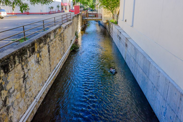 The San Pedro Creek will soon be redeveloped into a linear park. Photo by Scott Ball.