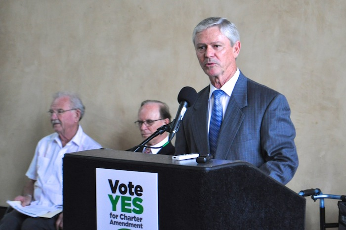 David McGee, Chair of the Sensible Pay for SA campaign. Photo by Iris Dimmick.