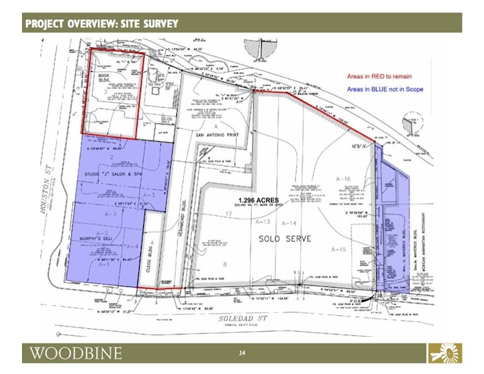Site map of the proposed River Walk hotel courtesy of Woodbine Development Corporation.