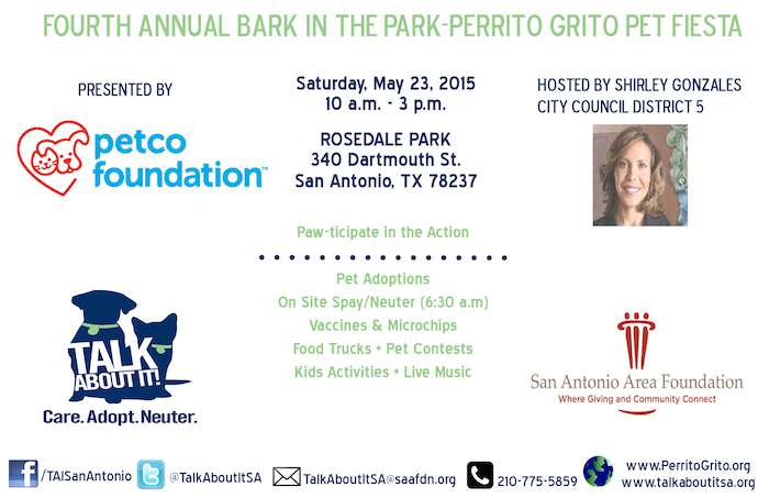 Flyer for Bark in the Park. Courtesy image.