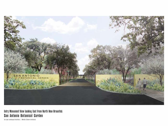 The new entryway to the Botanical Garden. Courtesy image.