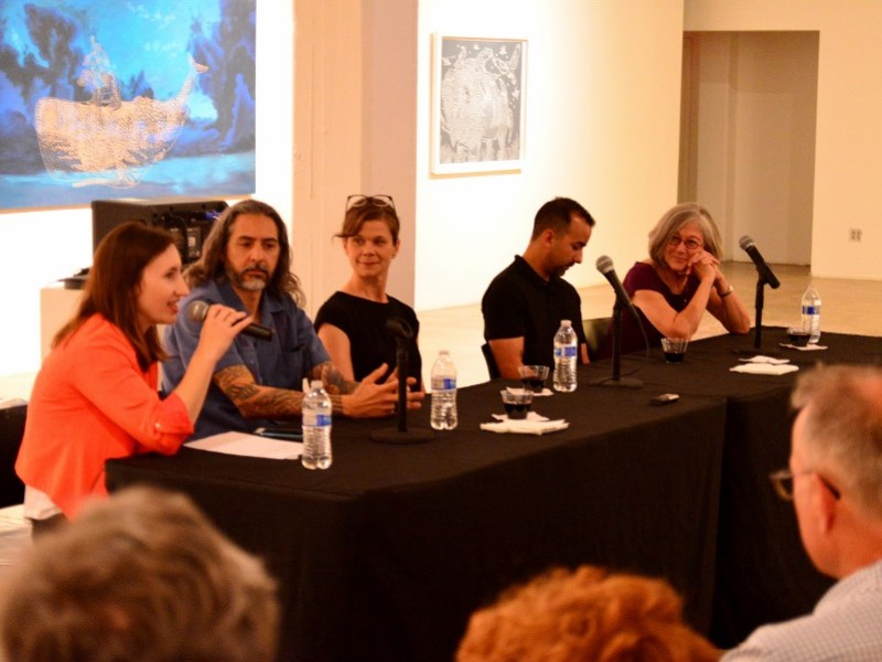 Panelists discuss their Berlin residency experiences. Photo by Page Graham.