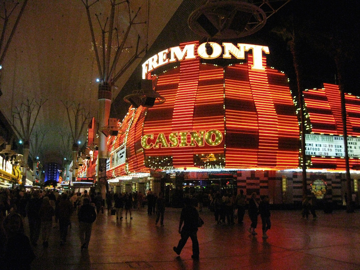 A casino on Fremont Street in Las Vegas. Photo courtesy of Flickr user rayb777.