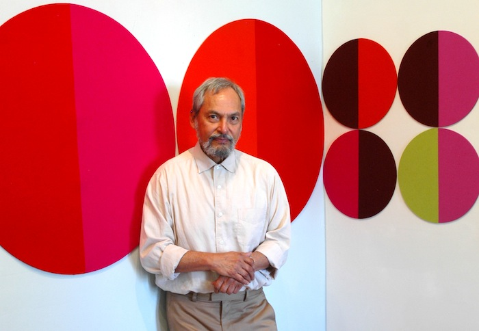 "Jesse Amado and his ""30 Day Rx"" exhibit at Ruiz-Healy Art. Courtesy photo."