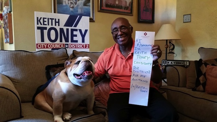 Keith Toney poses for a photo for his AMA on Reddit.