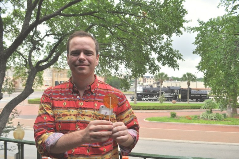 Patrick Dowd, founder and CEO of Millennial Trains Project in St. Paul Square. Photo by Iris Dimmick.