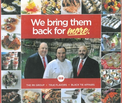From Left: RK Group's CEO and President Greg Kowalski, True Flavors founder Chef Johnny Hernandez, and co-founder of Black Ties Affairs Richard Ojeda. Promotional graphic provided by RK Group.