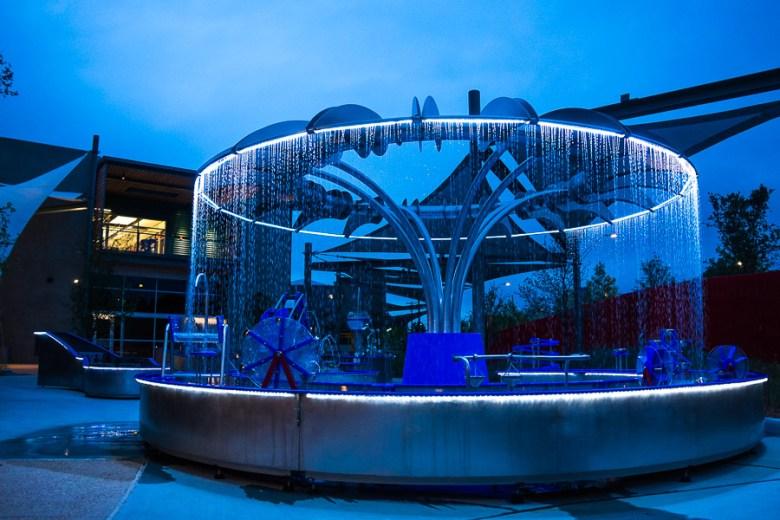 An interactive water fountain. Photo by Scott Ball.