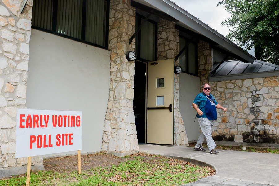 Some residents voted early for the May 9 City Election at Lion's Field. Photo by Scott Ball.