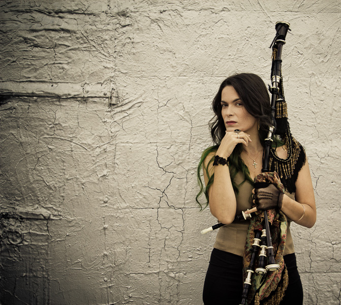 Cristina Pato and her bagpipes. Courtesy photo.