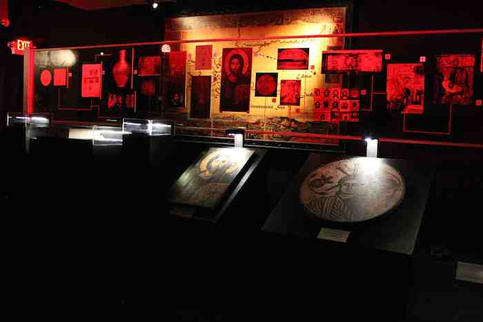 A timeline display at the Immersive Planet's Shroud of Turin touring exposition in San Antonio in 2014. Courtesy photo.