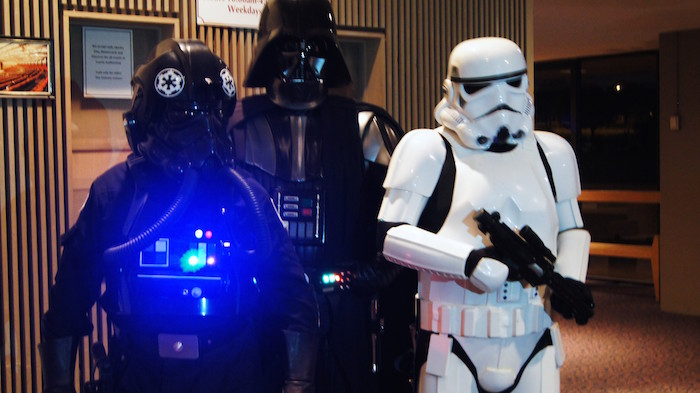 Costumed attendees at a previous Star Wars themed concert. Photo courtesy of the San Antonio Symphony.