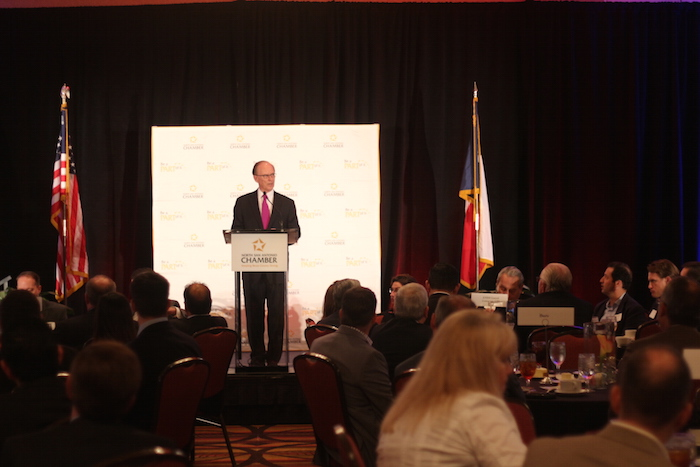Bexar County Judge Nelson Wolff gave a State of the County speech on Friday. Photo by Joan Vinson.