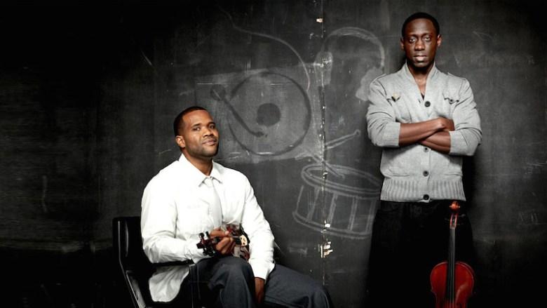 Kev (born Kevin Sylvester) and Wil (Wilner Baptiste) of Black Violin. Photo courtesy of the Tobin Center.